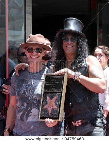 LOS ANGELES - JUL 9:  Clifton Collins Jr., Slash at the Hollywood Walk of Fame Ceremony for Slash at Hard Rock Cafe at Hollywood & Highland on July 9, 2012 in Los Angeles, CA