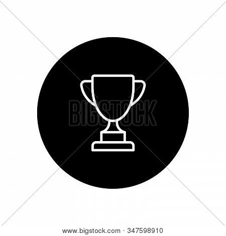 Trophy Icon Isolated On Black Background. Trophy Icon In Trendy Design Style. Trophy Vector Icon Mod
