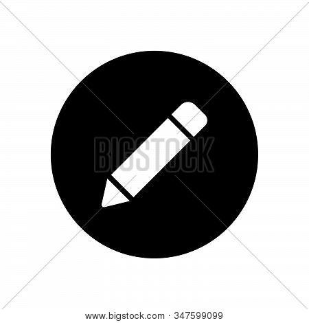 Pencil Icon Isolated On Black Background. Pencil Icon In Trendy Design Style. Pencil Vector Icon Mod