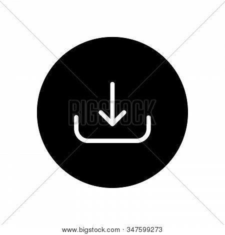 Download Icon Isolated On Black Background. Download Icon In Trendy Design Style. Download Vector Ic