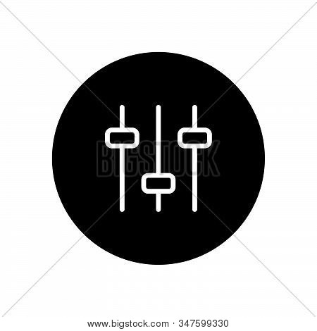 Filter Control Icon Isolated On Black Background. Filter Control Icon In Trendy Design Style. Filter
