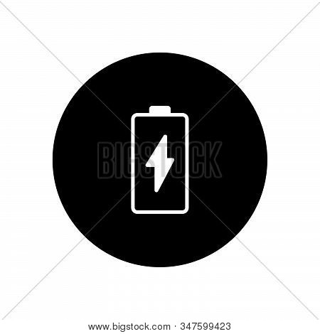 Battery Icon Isolated On Black Background. Battery Icon In Trendy Design Style. Battery Vector Icon