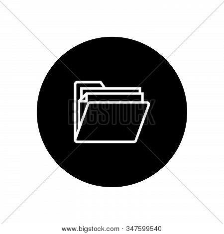 Folder Icon Isolated On Black Background. Folder Icon In Trendy Design Style. Folder Vector Icon Mod