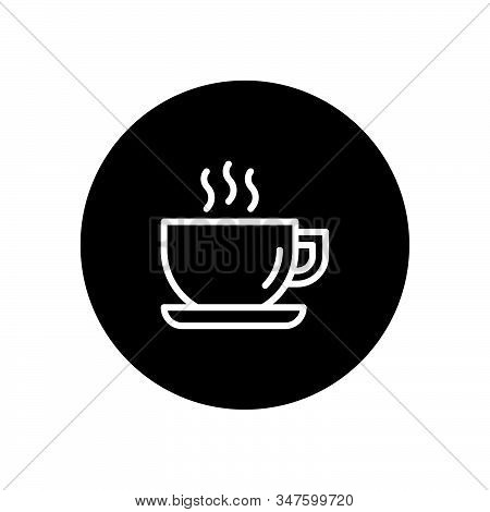 Coffee Cup Icon Isolated On Black Background. Coffee Cup Icon In Trendy Design Style. Coffee Cup Vec