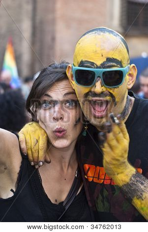 Participants At Gay Pride 2012 Of Bologna