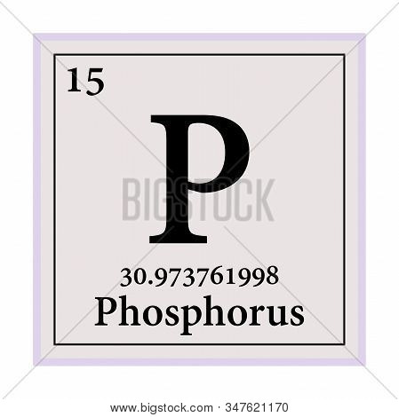 Phosphorus Periodic Table Of The Elements Vector Illustration Eps 10.