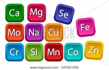 Mineral Complex For Health. Calcium, Magnesium, Zinc, Iron, Manganese, Cobalt, Copper, Potassium, Mo