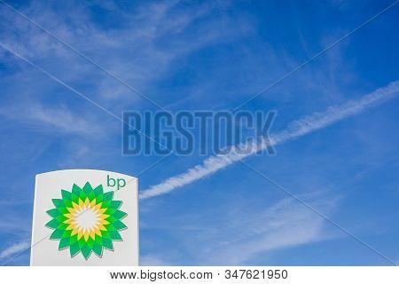 Lyon, France - February 26, 2019: Bp Plc (formerly The British Petroleum Company Plc) British Multin