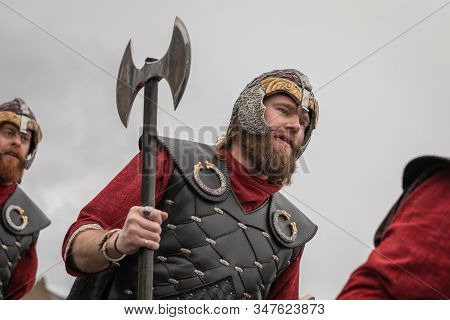 Lerwick, Shetland Isles, Scotland, Uk. 28th January 2020. Up Helly Aa Viking Fire Festival Which Is