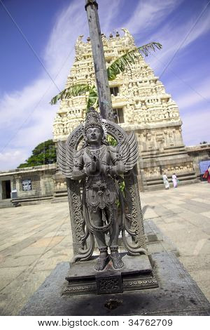 Garuda Statue, Chennakesava Temple, Belur, Karnataka, India
