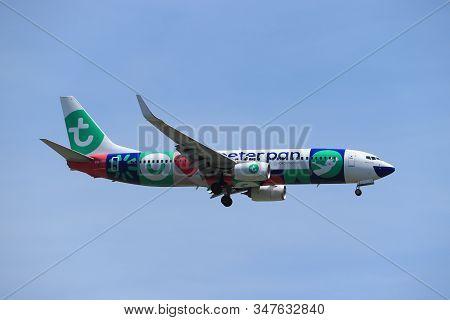 Amsterdam, The Netherlands - June, 1st 2019: Ph-hsi Transavia Boeing 737-800,