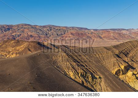 Ubehebe Crater, Large Volcanic Crater Of The Ubehebe Craters Volcanic Field In The Northern Half Of