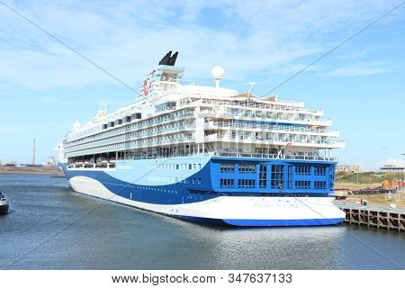 Ijmuiden, The Netherlands - September 2nd 2019: Marella Discovery, Former Tui Discovery Moored At Fe