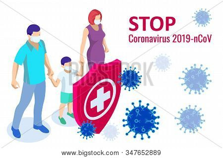 China Battles Coronavirus Outbreak. Coronavirus 2019-nc0v Outbreak, Travel Alert Concept. The Virus