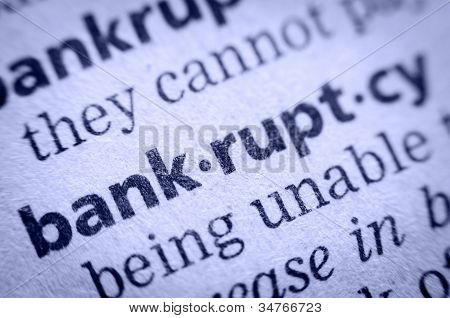 Word Bankruptcy In Glossary, Super Macro