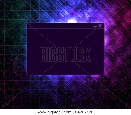 Dark Window Technology Concept Background