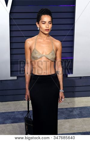 BEVERLY HILLS - FEB 24: Zoe Kravitz at the 2019 Vanity Fair Oscar Party at The Wallis Annenberg Center for the Performing Arts on February 24, 2019 in Beverly Hills, CA