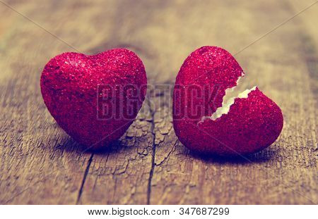 love concept. Broken heart cheating. love the end