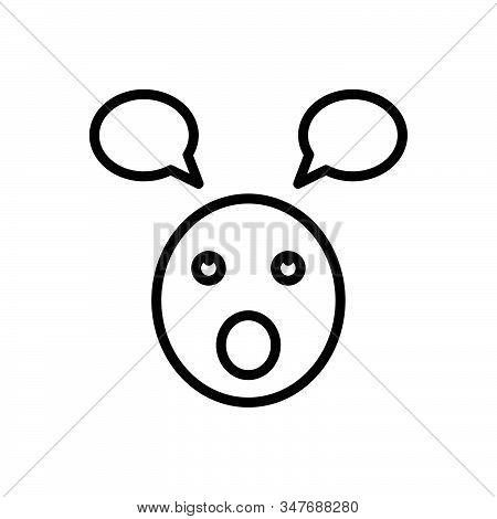Black Line Icon For Parakeet Foolish Stupid Silly Unwise Emoji