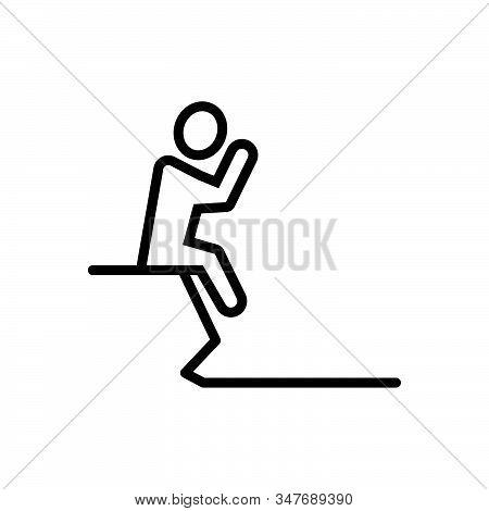 Black Line Icon For Failure Fiasco Hoodoo Setback Unsuccessful Depression