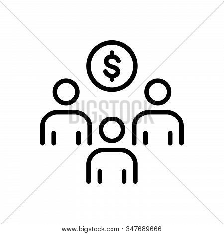 Black Line Icon For Sponsor-investment Sponsorship Strategic Income Advertisement Advertising Contri