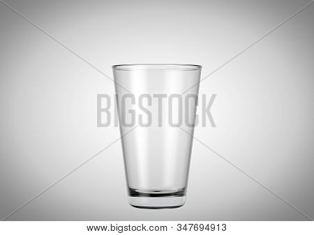 An Empty Shaker Shaped Beer Glass An Isolated White Studio Background - 3d Renders
