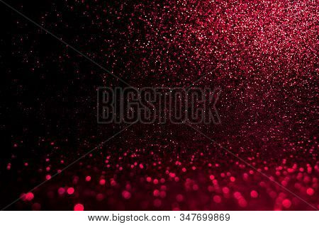 Soft Image Abstract Bokeh Dark Red With Light Background.red,maroon,black Color Night Light Elegance