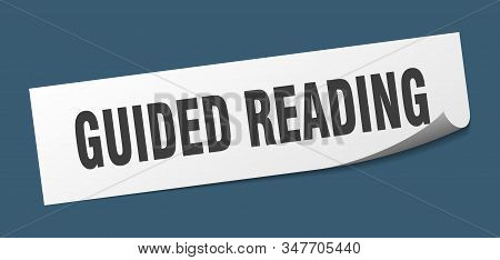 Guided Reading Sticker. Guided Reading Square Sign. Guided Reading. Peeler