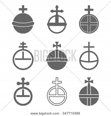 Vector Set With Globus Cruciger For Your Design