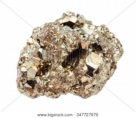 Raw Crystalline Pyrite (fool's Gold) Rock Isolated