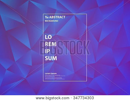 Abstract Gradient Purple Triangle Pattern Design Of Polygonal Artwork Background. Decorate For Ad, P