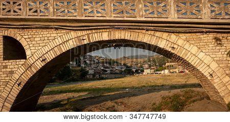 Stone Arch Of Gorica Bridge, Berat, Albania