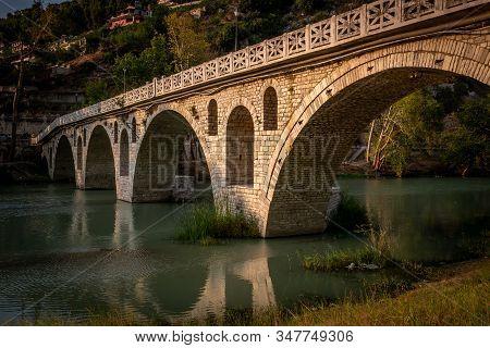 Gorica Bridge Over Osum River, Berat, Albania