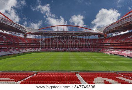 Lisboa, Portugal - April 2018:  Estadio Da Luz - The Official Playground Of Fc Benfica