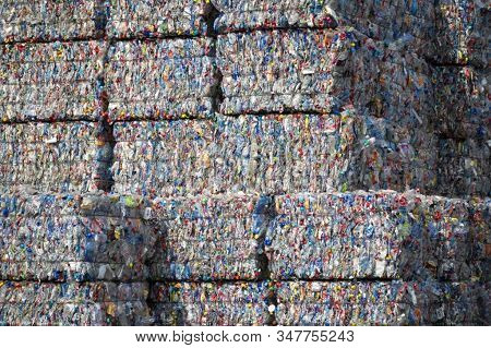 Recycling Industry. Ecology. Recycled Material. Mass Consumption.