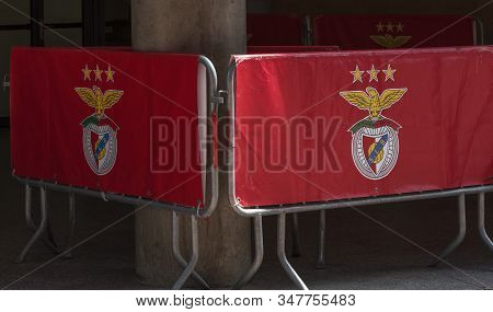 Lisboa, Portugal - April 2018: Barriers At Estadio Da Luz - The Official Playground Of Fc Benfica