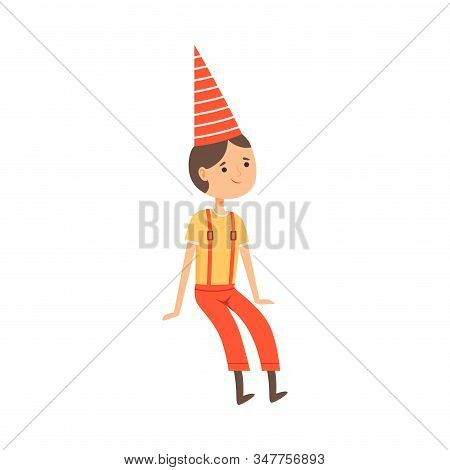 Tom Thumb Character From Fairy Tale Vector Illustration