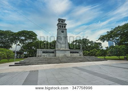 Singapore.  January 2020.  A View Of The Cenotaph Monument In Panang