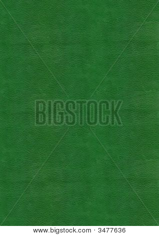 Green Leather Texture To Backgrounnd