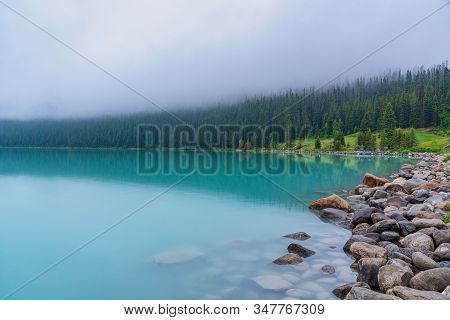 Lake Louise From The Shoreline Banff Canada