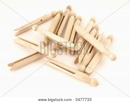 Pile Of Clothespins