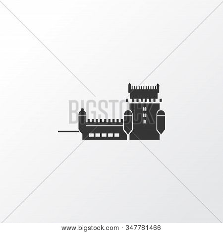 Tower Of Belem Icon Symbol. Premium Quality Isolated Lisbon Element In Trendy Style.