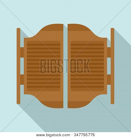 Saloon Doors Icon. Flat Illustration Of Saloon Doors Vector Icon For Web Design