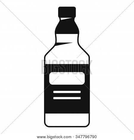 Whiskey Bottle Icon. Simple Illustration Of Whiskey Bottle Vector Icon For Web Design Isolated On Wh