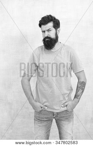 Having Nice Beard Is Distinguishable Style That Exuberant Professionalism And Manhood. Taking Care O