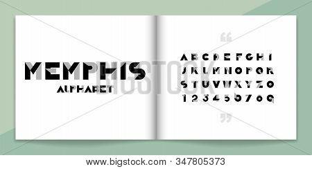 Geometric Font And Alphabet Set. Lettering Design For Magazine, Poster, Logo Or Advertising Media. T