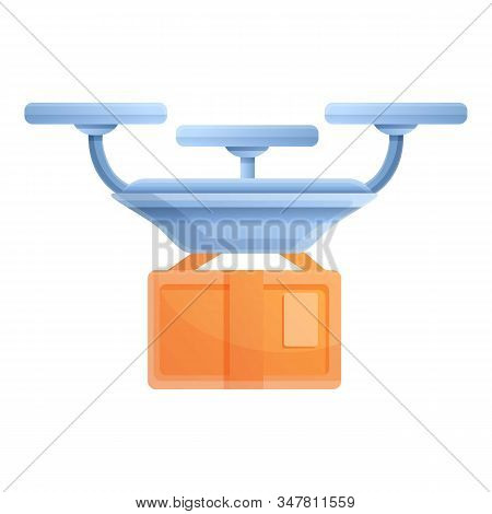 Postal Drone Delivery Icon. Cartoon Of Postal Drone Delivery Vector Icon For Web Design Isolated On