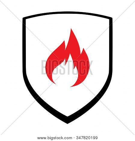 Heat Or Fire Protection Icon Vector. Manufacturing Products Trader Sign. Perfect For Backgrounds, Ba