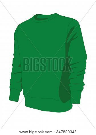 Pullover Green Realistic Vector Illustration Isolated No Background