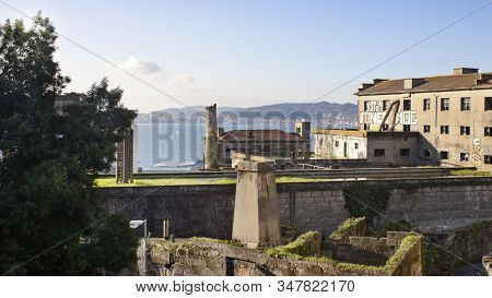 Vigo, Spain - Jan 25, 2020: Estuary And Antique Industrial Bakery On January 25, 2020 In Vigo City,